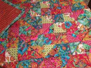 Happy Harlequin Shoulder Quilt